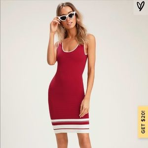 NWT Bodycon Red Dress Size Medium
